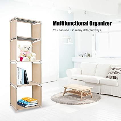 Azadx 4 Cube Bookcase, Home Furniture Storage Bookshelf Storage Kidsu0027  Bookcases, Cabinets U0026