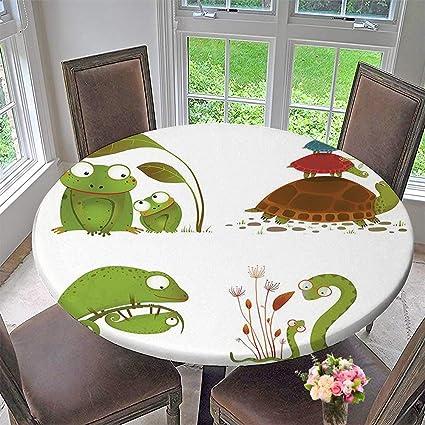 Amazon.com: Mikihome Round Table Tablecloth Reptile Reptile ...
