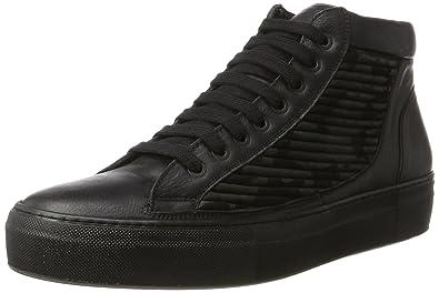 Karl Lagerfeld High Top Sneaker, Baskets Hautes Homme, Schwarz (Schwarz), 44 EU