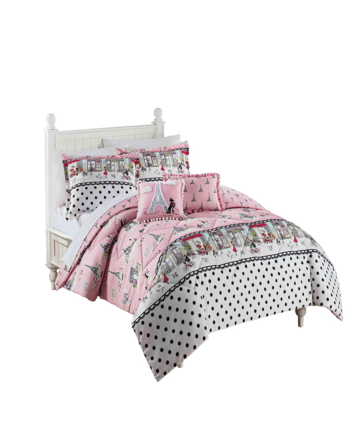 WAVERLY Kids Ooh La Reversible Bedding Collection, Full/Queen, Multicolor