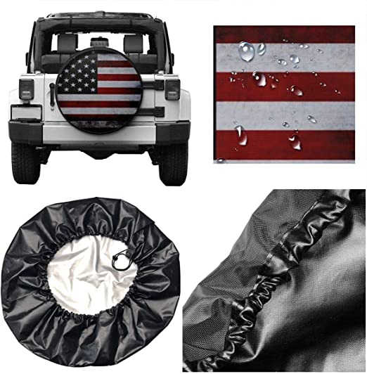 DuGuoDong Marvin The Martian Polyester Universal Spare Tire Cover Wheel Cover for Trailer Rv SUV Truck Camper Travel Trailer