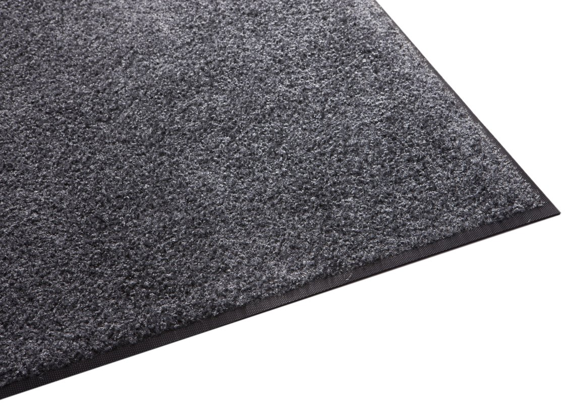 Guardian Platinum Series Indoor Wiper Floor Mat, Rubber with Nylon Carpet, 3'x10', Grey by Guardian