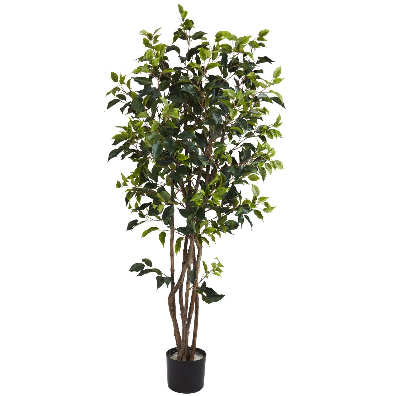 Nearly Natural 5333 Ficus Bushy Silk Tree, 5-Feet, Green