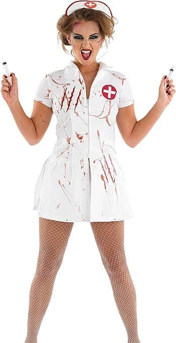 ZYL Disfraz de Halloween Cosplay Enfermera, Disfraz de Zombie Loco ...