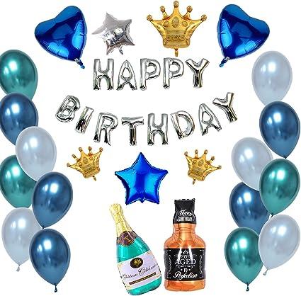 SUPERSHAPE FOIL BALLOON ADULT CELEBRATION HAPPY BIRTHDAY SET