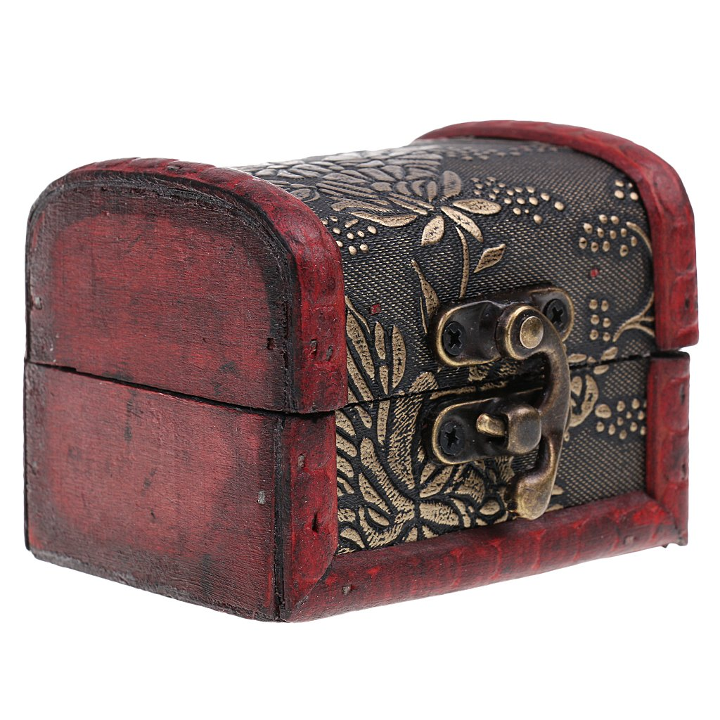 Boîte à Bijoux Rangement en Bois Rétro Organisateur Vintage #1 Générique