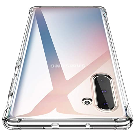 AINOYA Compatible with Galaxy Note 10 Case, Clear Anti-Scratch Shock Absorption Cover Case for Samsung Galaxy Note 10 - Crystal Clear (Transparent)