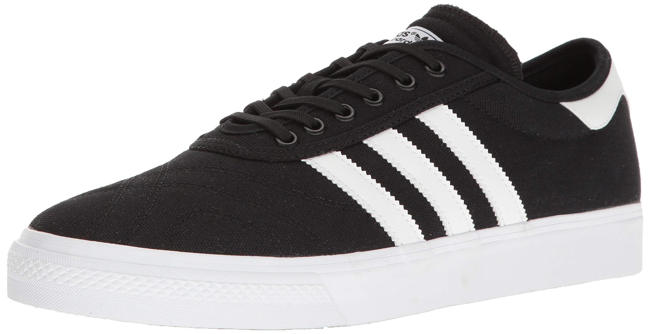 adidas Originals Men's Adi-Ease Premiere Fashion Sneaker, Black/White/Gum, (11 M US)