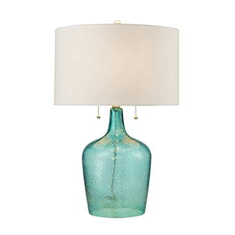 Dimond Lighting D2689 Hatteras Hammered Glass Table Lamp Seabreeze