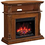 "ClassicFlame 23DE1447-O107 Corinth Wall or Corner TV Stand for TVs up to 47"", Premium Oak (Electric Fireplace Insert sold separately)"