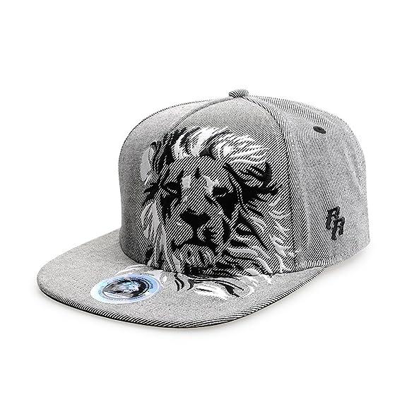 5152189f7 Riorex Hip hop caps Fashion Animal Embroidery Baseball Cap for Men  Adjustable Leather Belt Strapback Baseball Cap