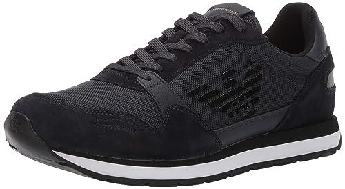 Emporio Armani 42 Bassa Uomo Sneakers Blu rsQhdtC