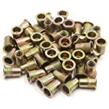 uxcell M14 Thread C15 Carbon Steel Zinc Plated DIN582 Lifting Ring Eye Nut 2pcs