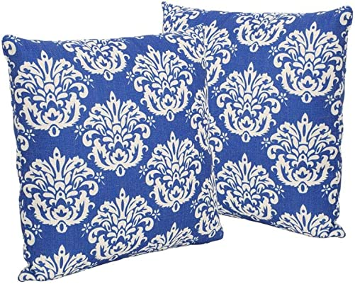 Christopher Knight Home 305509 Alisa Outdoor 18″ Water Resistant Square Pillows Set of 2