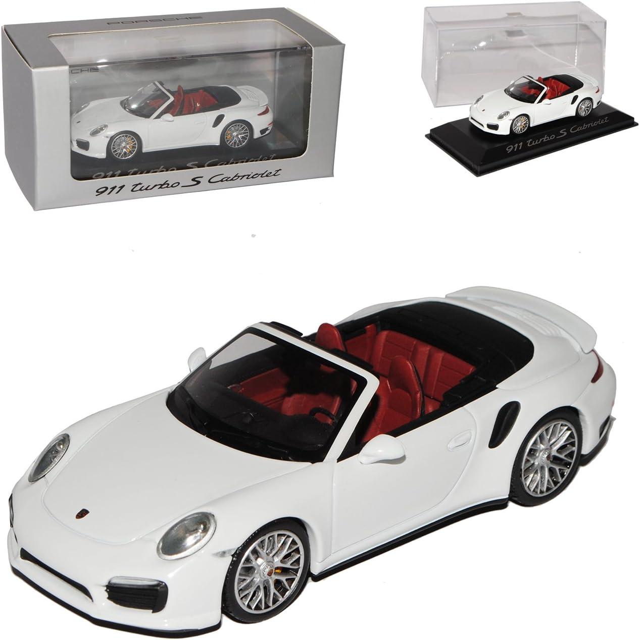 Minichamps Porsche 911 991 Cabrio Turbo S Weiss Ab 2012 1 43 Modell Auto Mit Individiuellem Wunschkennzeichen Spielzeug