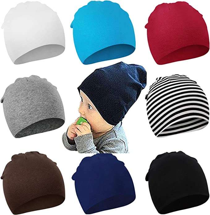Infant Toddler Newborn Baby Knotted Hat Boys Girls Soft Cap Cotton Beanie LJ
