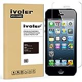 iPhone SE Pellicola Protettiva, iVoler® iPhone SE/5/5S/5c Pellicola Protettiva in vetro temperato per Apple iPhone SE/5/5S/5c- Vetro con Durezza 9H, Spessore di 0,2 mm,Bordi Arrotondati da 2,5D-Shockproof, Trasparenza ad alta definizione,  Facile da installare- Garanzia a vita