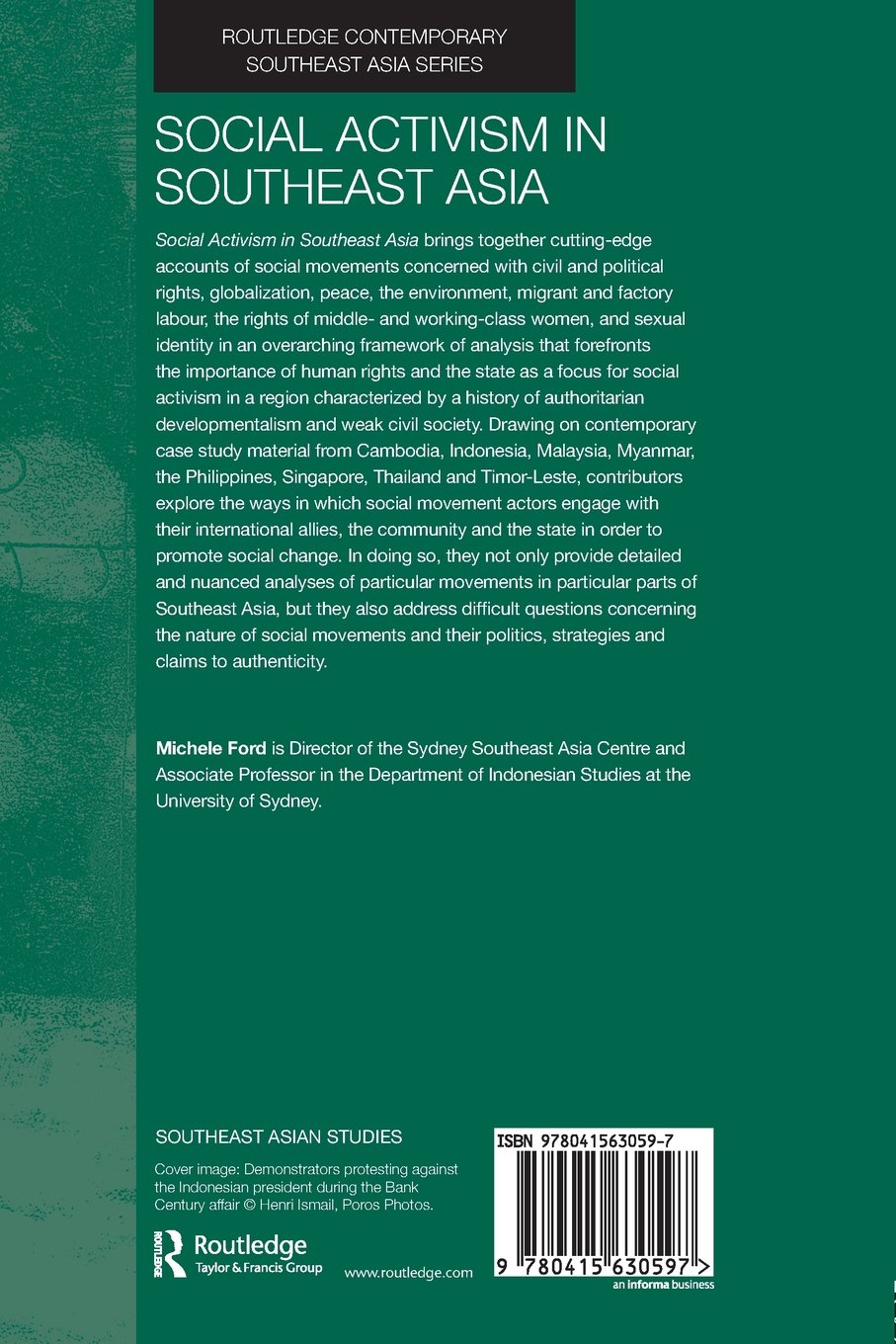 Social Activism in Southeast Asia (Routledge Contemporary Southeast Asia):  Amazon.co.uk: Michele Ford: 9780415630597: Books