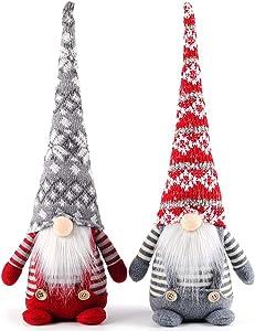 BAEONY Christmas Gnome Plush, 17 Inch Christmas Elf Decorations Holiday Handmade Swedish Tomte for Christmas Decorations, Holiday Presents, Home Table Ornaments