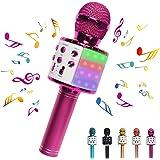 DREAM&GLAMOUR Karaoke Microphone for Kids,Bluetooth Wireless Microphone with LED Lights,Portable Handheld Karaoke Mic Speaker
