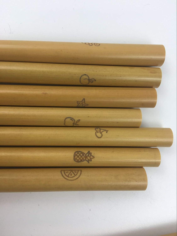 Pure Planet Bio Bambus Strohhalme 14 StrawBerrys mit Reinigungsb/ürste wiederverwendbar einzigartige Fruchtsymbolgravur