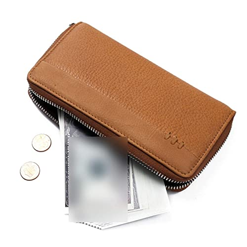 Amazon.com: LgihtCoffee - Monedero largo para hombre, con ...