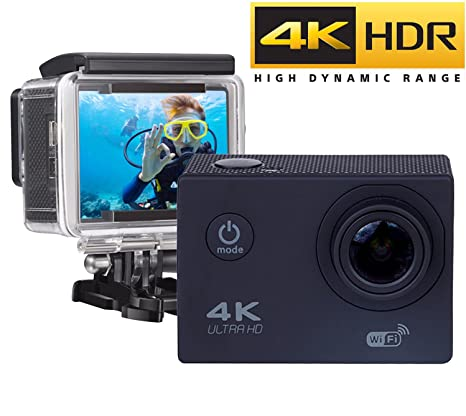 ★ LA MAS VENDIDA ★ Action Camera WIFI 4K - Full HD 16MP, Cámara Deportiva 4k Wifi Ultra HD Resistente al agua Wi-Fi 16MP Full HD 1080p Sensor SONY ...
