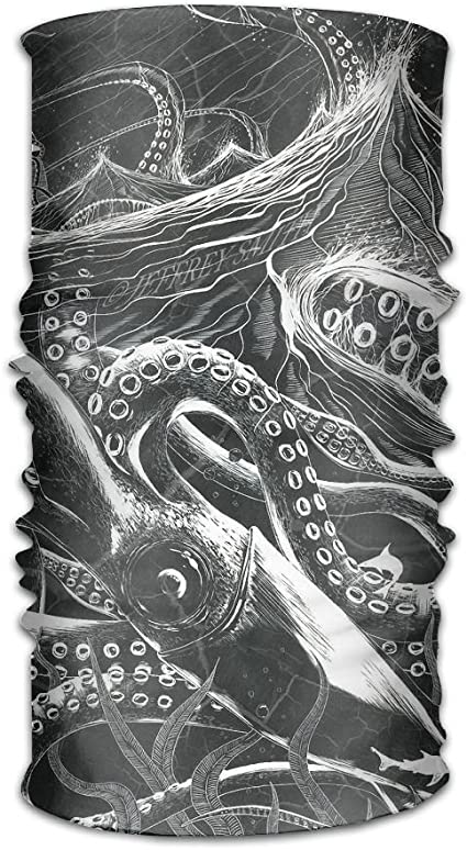 Hand-drawn Octopus And Anchors Unisex Fashion Quick-drying Microfiber Headdress Outdoor Magic Scarf Neck Neck Scarf Hooded Scarf Super Soft Handle