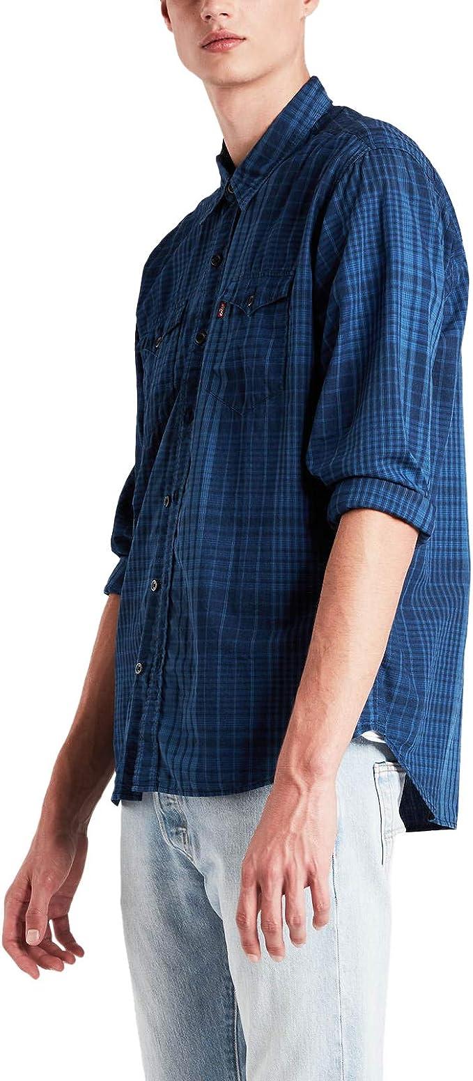 Levis Modern Barstow Western Shirt Man Judson Indigo Large: Amazon.es: Ropa y accesorios