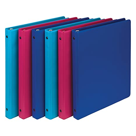 amazon com samsill fashion color 3 ring storage binders 5 inch