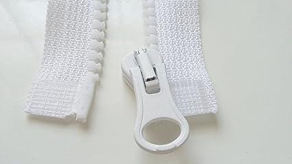 Couleur Blanche Zip// Fermeture éclair simple non séparable de 25 cm