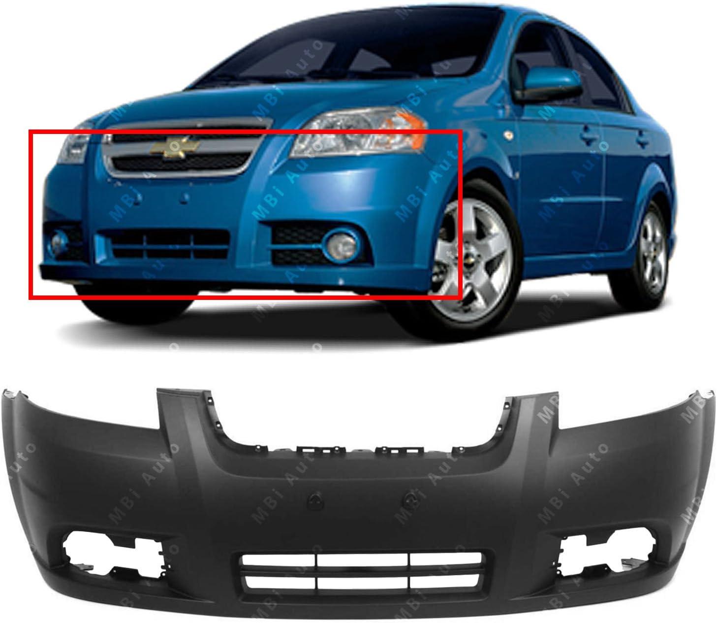 Amazon Com Mbi Auto Primered Front Bumper Cover Fascia For 2007 2011 Chevy Aveo Sedan 07 10 Gm1000833 Automotive