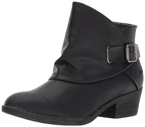 Blowfish Women's Sill Ankle Bootie, Black Lonestar/Dyecut PU, ...