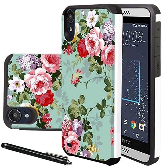 best sneakers c6d7b 12ff8 HTC Desire 530 Case, HTC Desire 630 Case, Linkertech Heavy Duty Defender  Dual Layer Protector Hybrid Phone Case Cover for HTC Desire 530 / 630  (Peony)