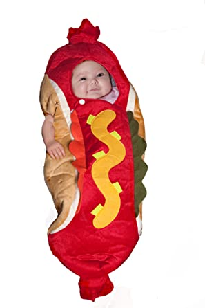 Hot Dog Bunting Halloween Costume NEWBORN-6 MOS.  sc 1 st  Amazon.com & Amazon.com: Hot Dog Bunting Halloween Costume NEWBORN-6 MOS.: Clothing