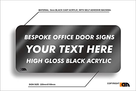 Cartel de acrílico Personalizable para Puerta de Oficina ...