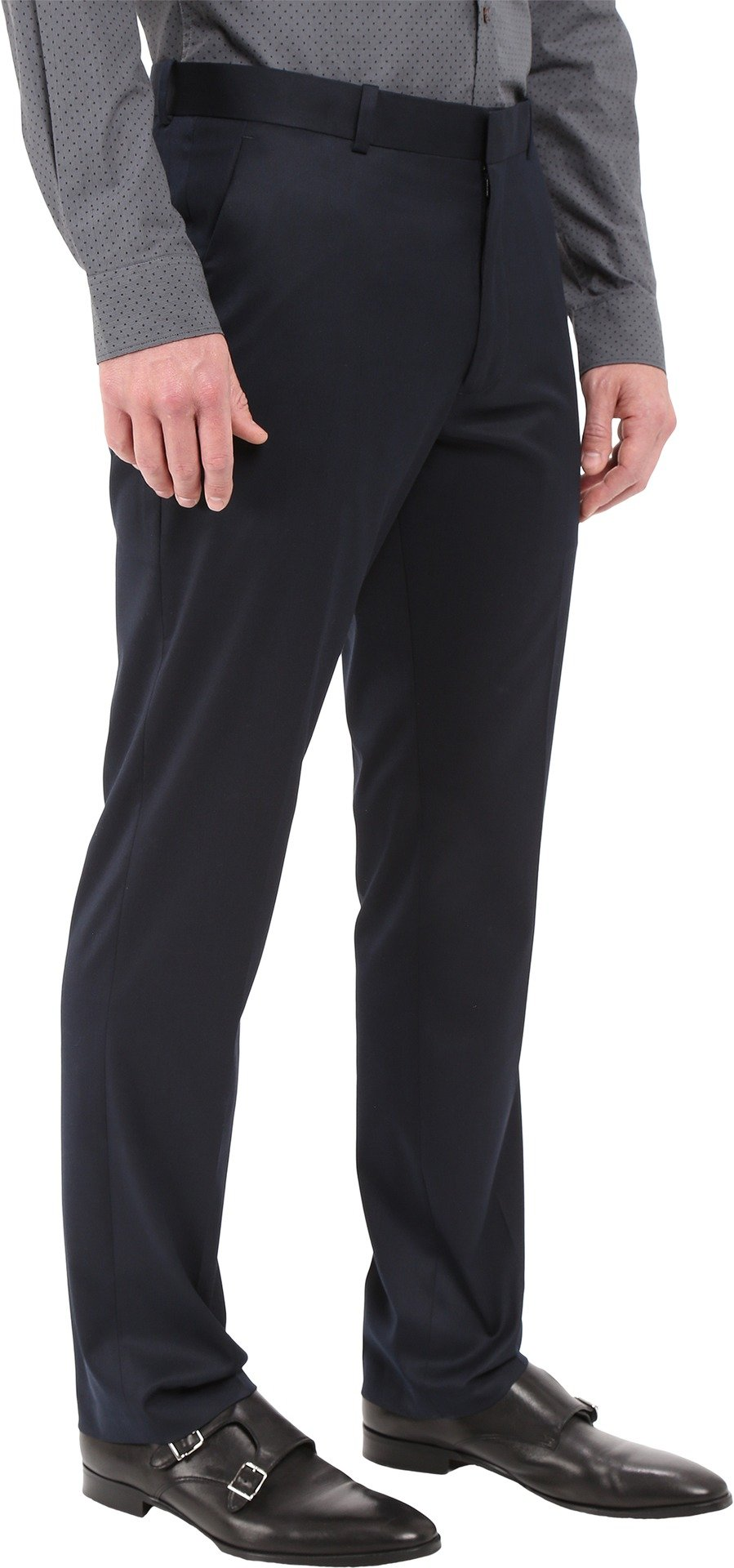 Perry Ellis Men's Solid Slim Fit Pant, Navy, 34x32