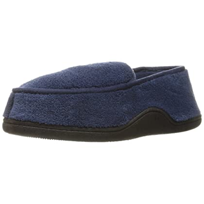 ISOTONER Men s Terry Slip On Clog Slipper with Memory Foam for  Indoor Outdoor Comfort 345d7a90a