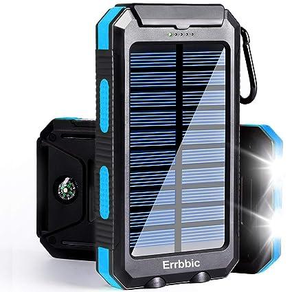 Amazon.com: Cargador portátil de batería solar de 200 mAh ...