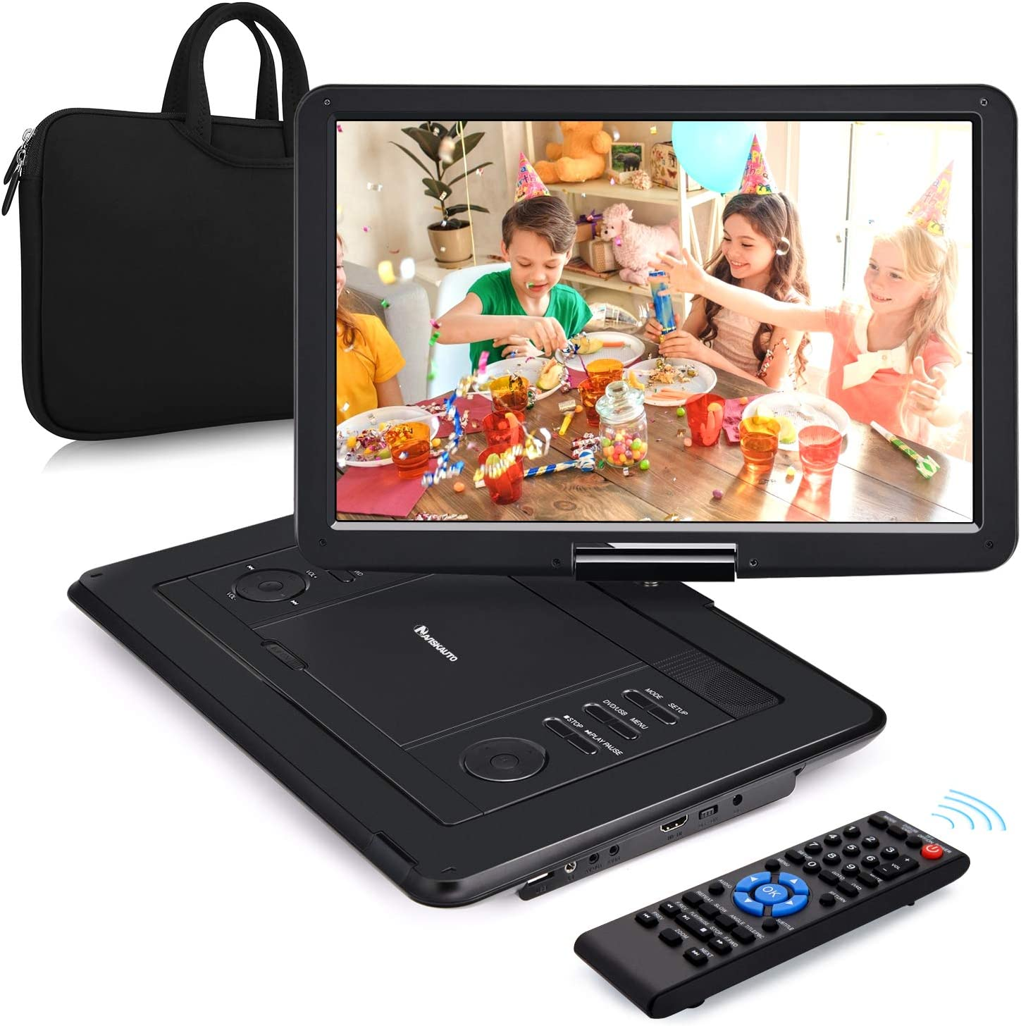 AV Out /& in Sync Screen USB SD 1080P Video Dolby Audio Last Memory NAVISKAUTO 10.1 Portable Blu Ray Player with Rechargeable Battery Support HDMI Output