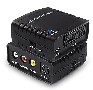 Convertidor de Captura de vídeo USB, Scart VHS a DVD Digital Grabber Grabador