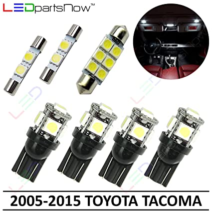 Amazon.com: LEDpartsNow Interior LED Lights Replacement for 2005-2015 Toyota Tacoma Accessories Package Kit (7 Bulbs), WHITE: Automotive