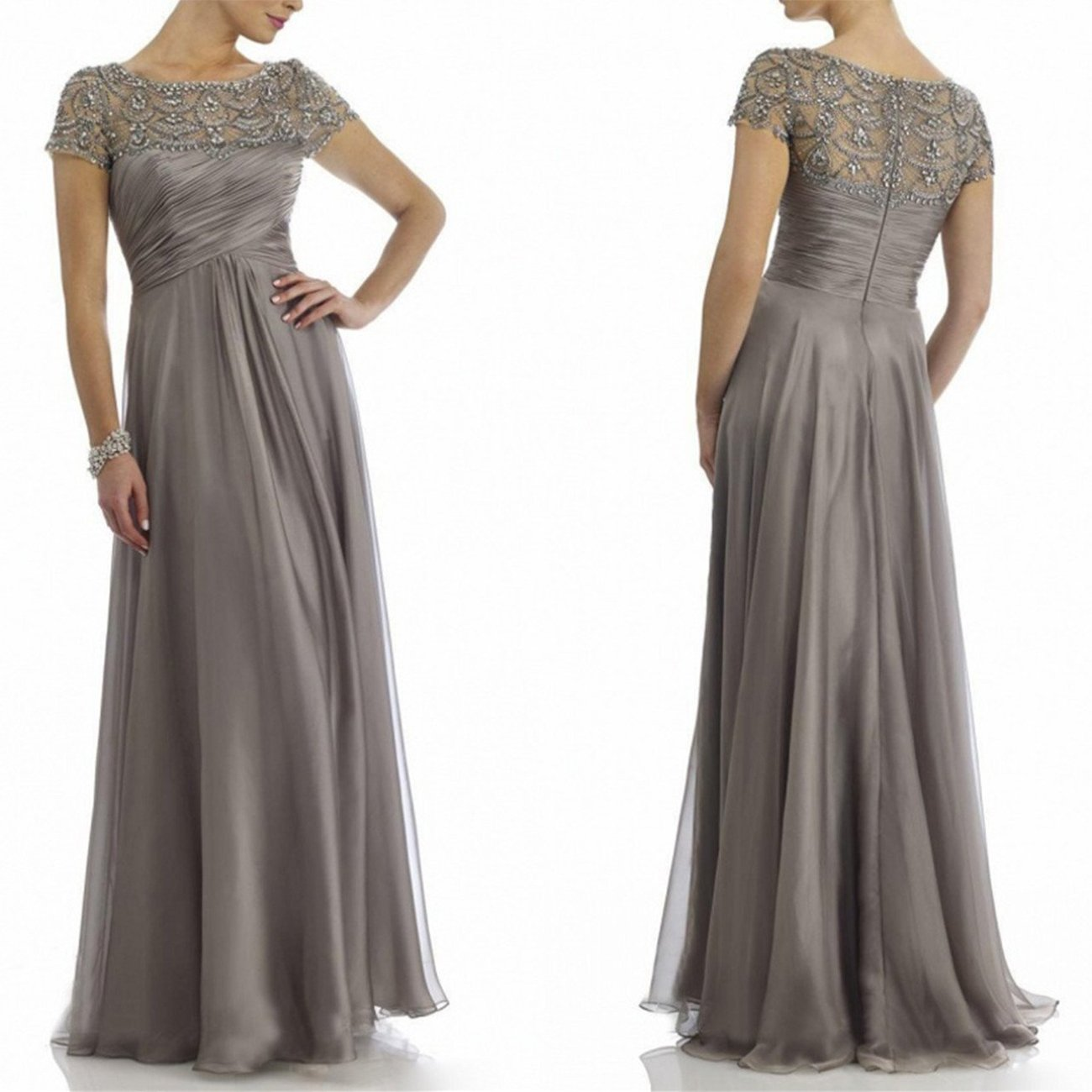 Newdeve Chiffon Mother Of The Bride Dresses Long Pleated ...