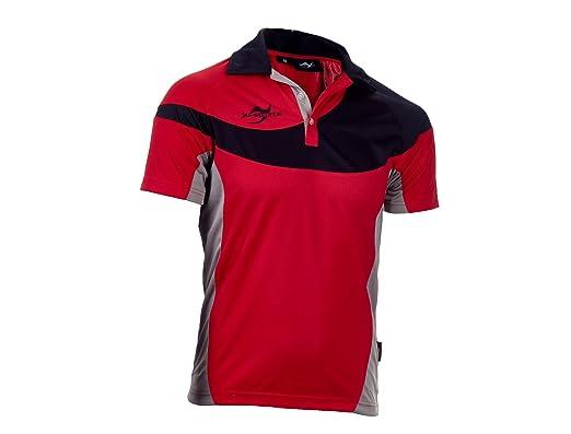 Ju-Sports Hombre Team Wear Element C1 Polo Rojo: Amazon.es: Ropa y ...