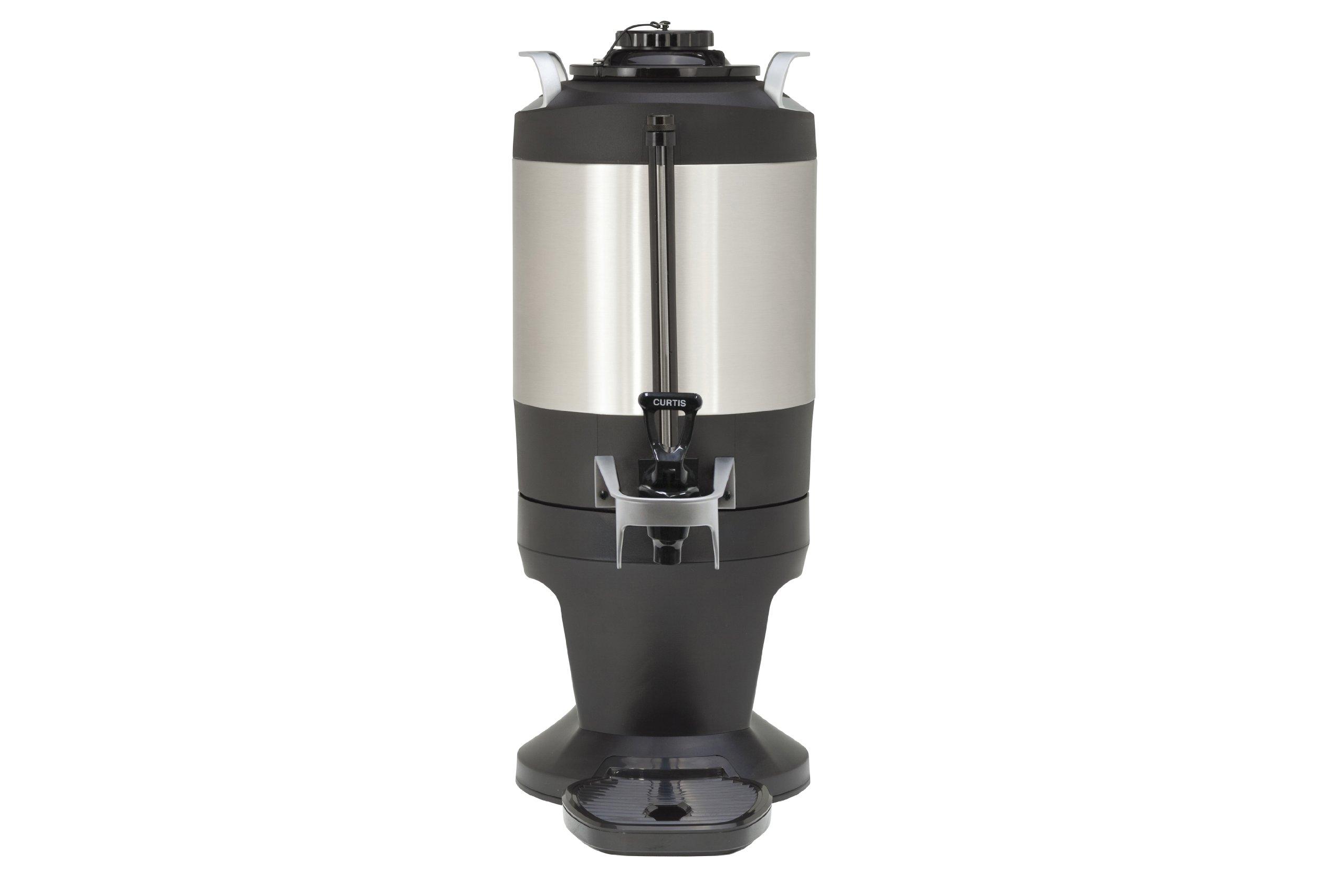 Wilbur Curtis Thermal Dispenser 1.5 Gallon Dispenser, S.S. Body S.S. Liner W/ Stylized Base - Coffee Dispenser - TXSG1501S600 (Each)