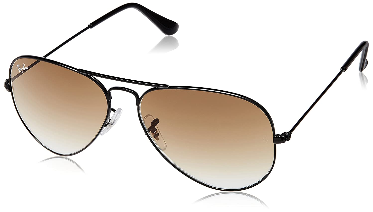 6bf61e73c51a Ray-Ban Aviator Sunglasses (Black) (RB3025|002/51 58): Amazon.in: Clothing  & Accessories