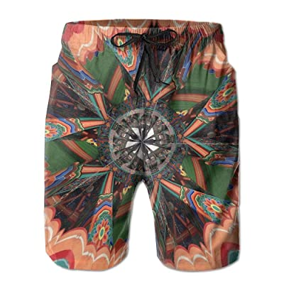 Men's Shorts Swim Beach Trunk Summer Kaleidoscope Trippy Acid Psychedelic Athletic Classic Shorts With Pockets