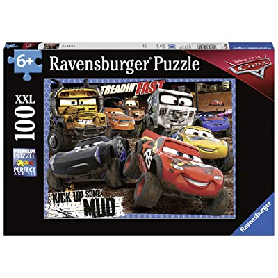 Ravensburger 12845 Disney Cars Mudders - 100 Piece Jigsaw Puzzle for Kids – Every Piece is Unique, Pieces Fit Together Perfectly: Toys & Games