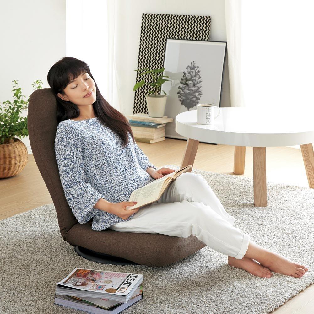 特許を取得した腰に優しい回転座椅子 ハイタイプ 540609(サイズはありません イ:ブラウン) B0794V3N5D イ:ブラウン イ:ブラウン