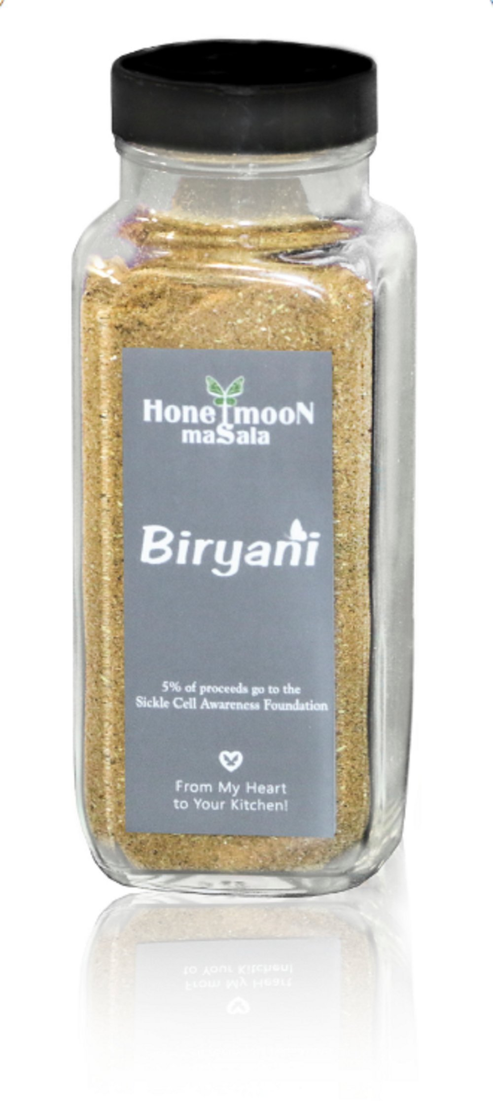 Biryani Spice Blend by Honeymoon Masala, 5.2 oz Glass Bottle